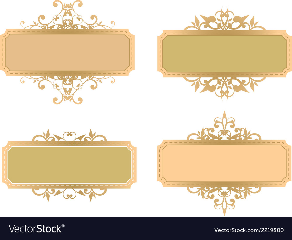 Vintage banner vector | Price: 1 Credit (USD $1)