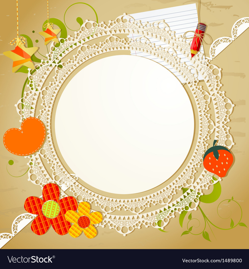 Vintage card with lace vector | Price: 1 Credit (USD $1)