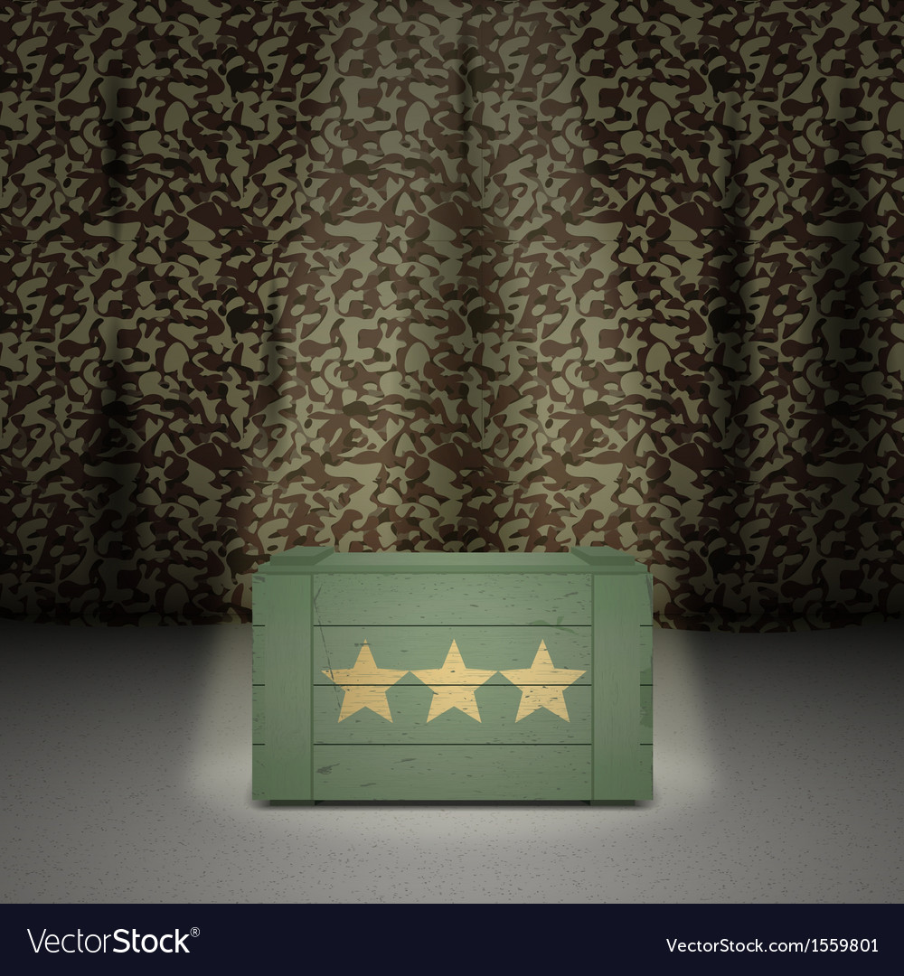 Army background with wooden box vector | Price: 1 Credit (USD $1)