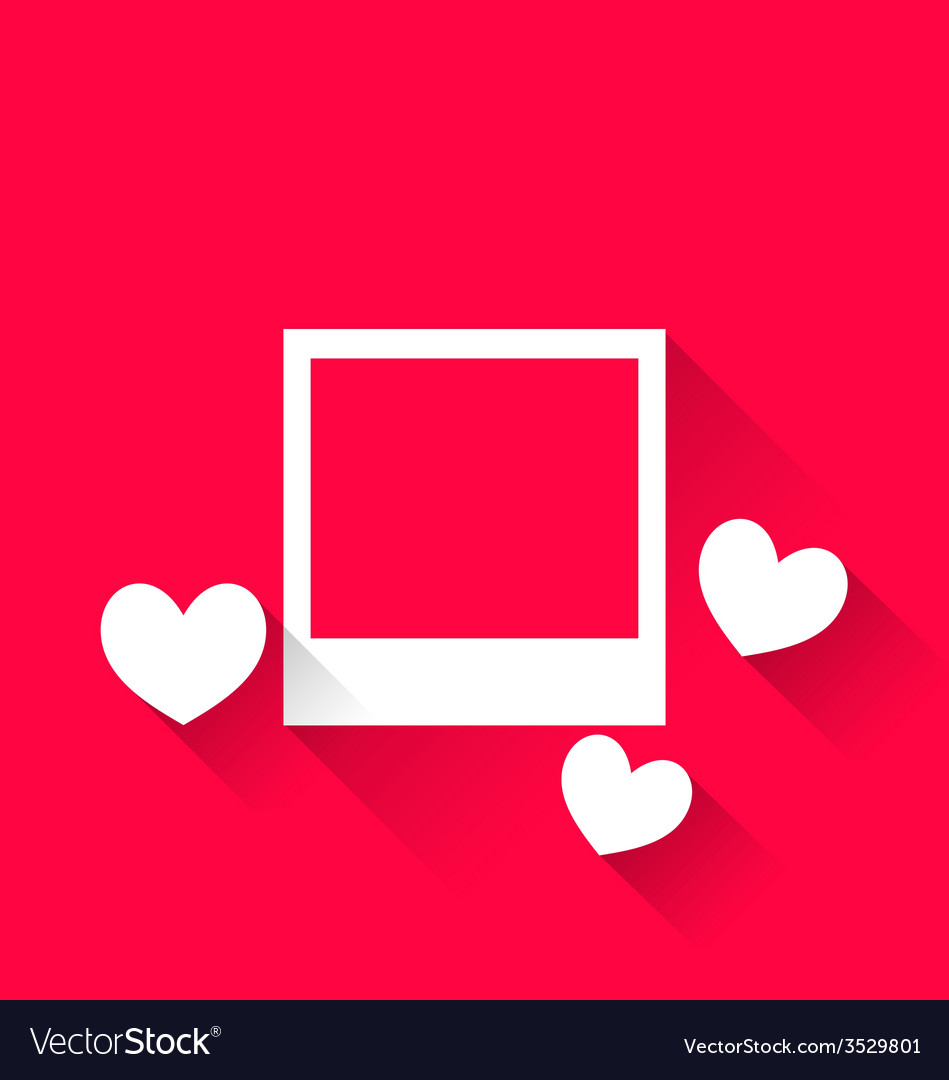 Blank photo frame with hearts for valentine day - vector | Price: 1 Credit (USD $1)