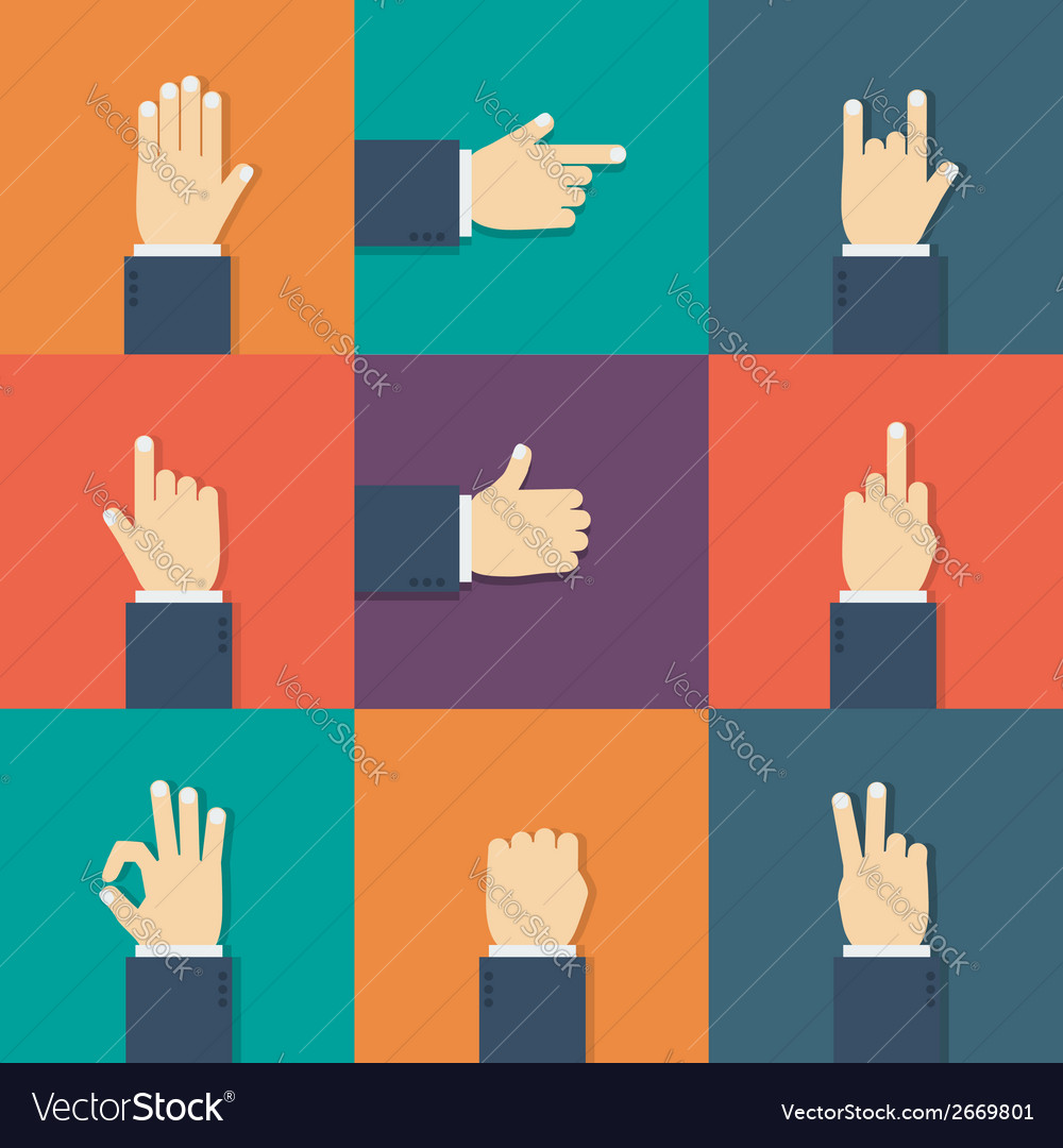 Hands flat icon vector | Price: 1 Credit (USD $1)