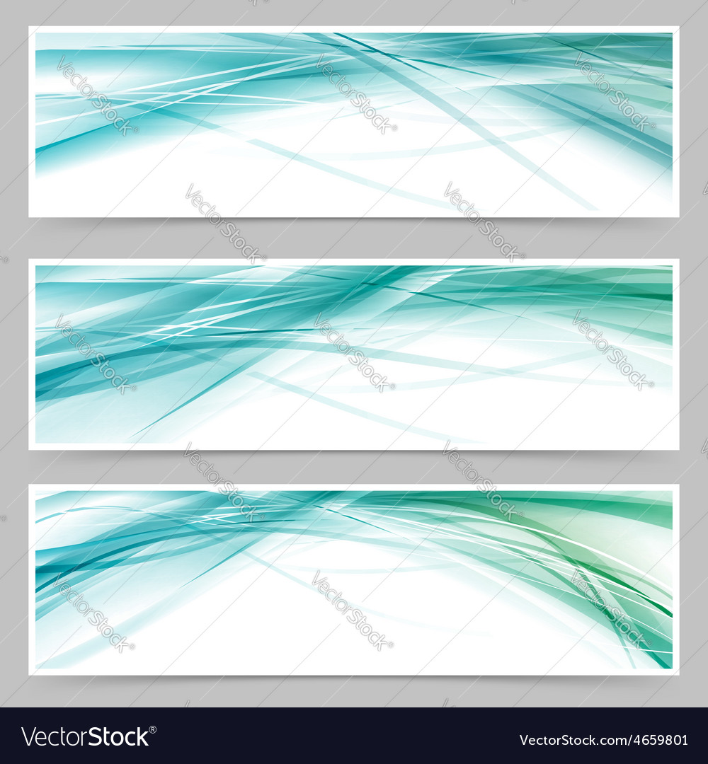 Modern blue swoosh line flyer collection vector | Price: 1 Credit (USD $1)