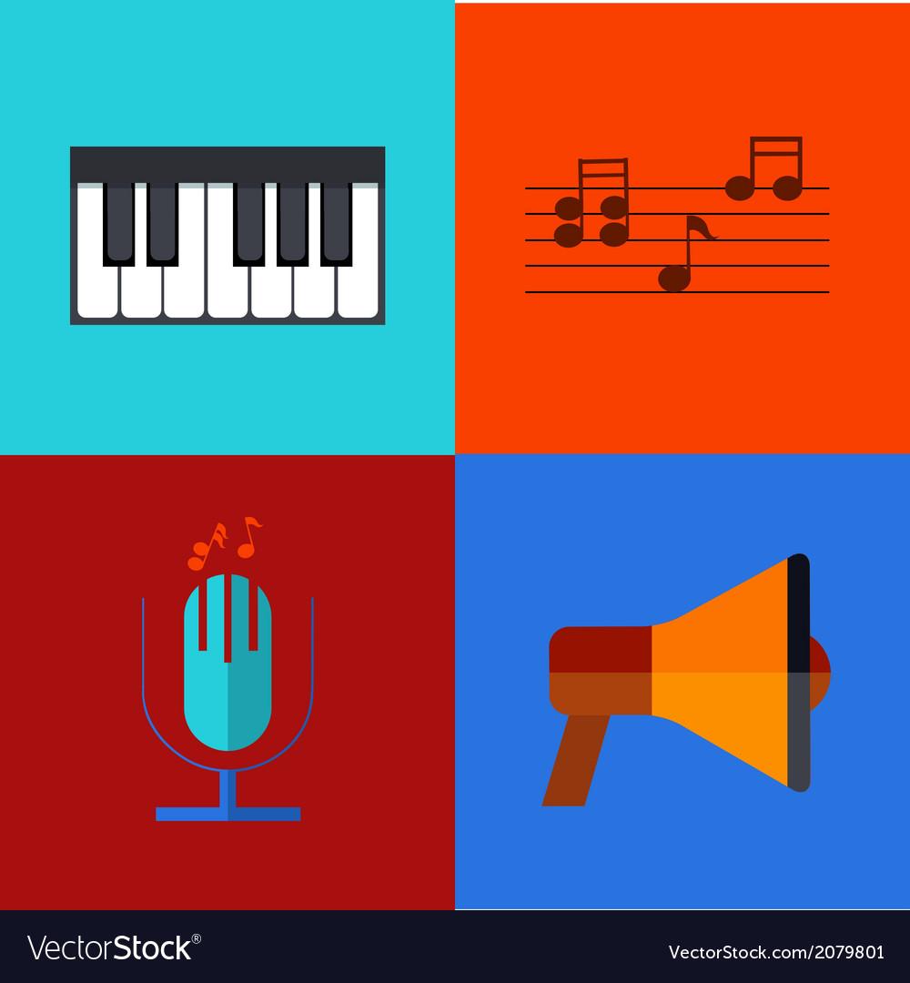 Modern flat icons set vector | Price: 1 Credit (USD $1)