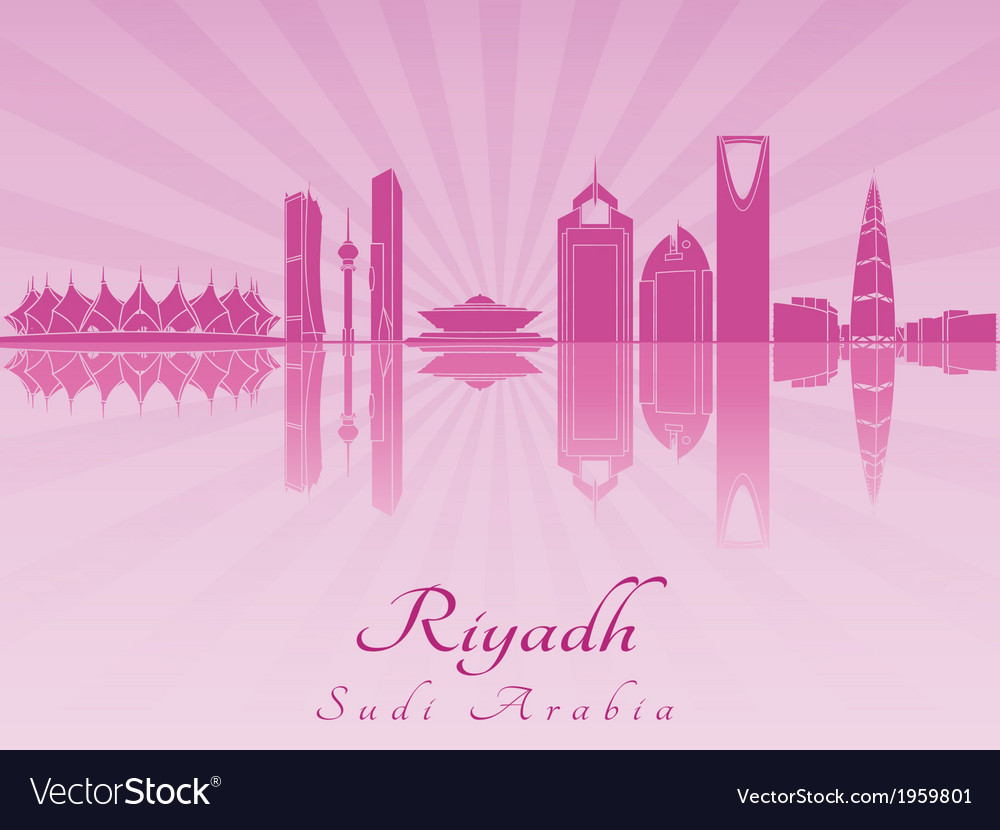 Riyadh skyline in purple radiant orchid vector | Price: 1 Credit (USD $1)