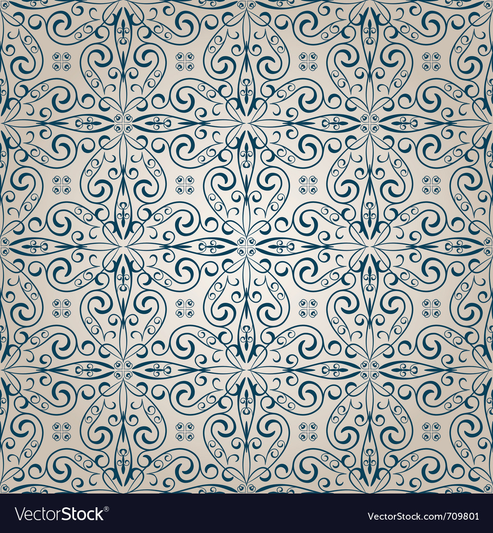 Seamless vintage retro pattern vector | Price: 1 Credit (USD $1)