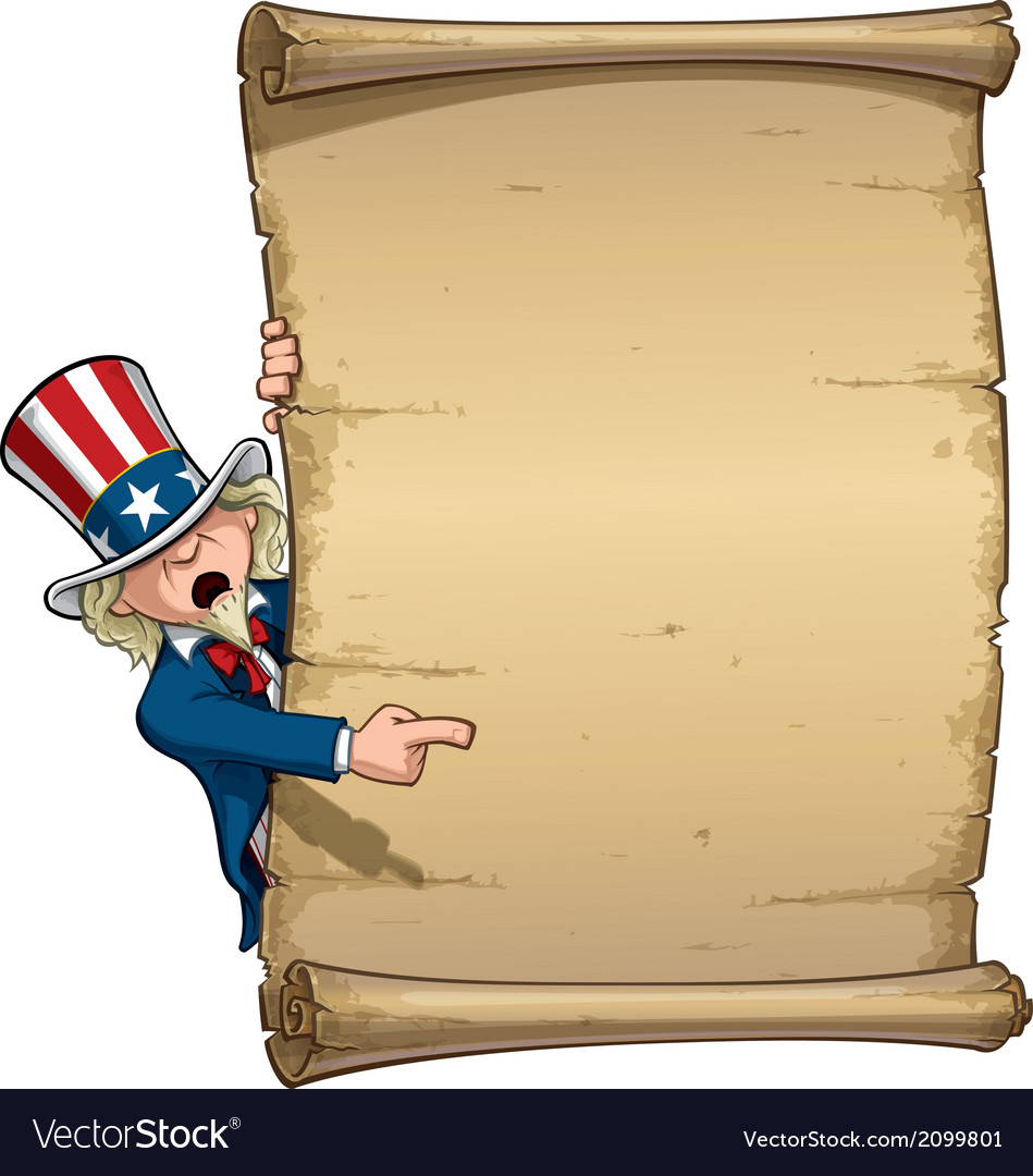 Uncle sam pointing at declaration vector | Price: 1 Credit (USD $1)