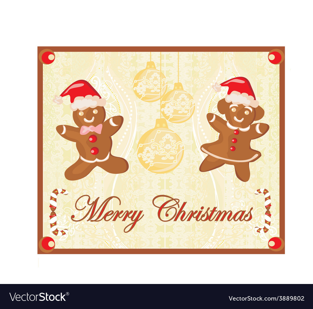 Abstract card with christmas gingerbread vector | Price: 1 Credit (USD $1)