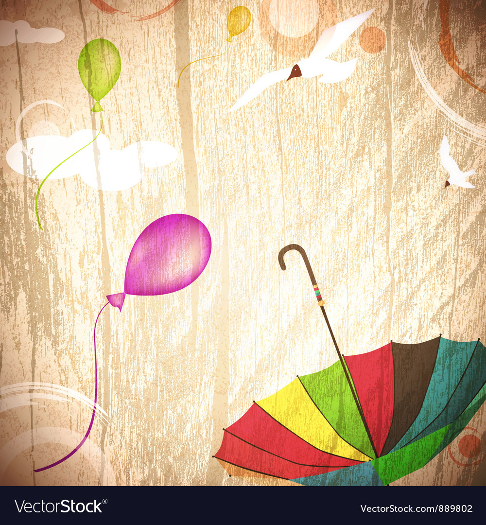 Abstract summer holiday background vector | Price: 1 Credit (USD $1)