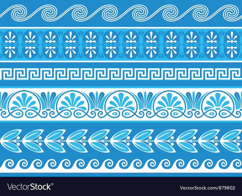 Decorative greek borders vector | Price: 1 Credit (USD $1)