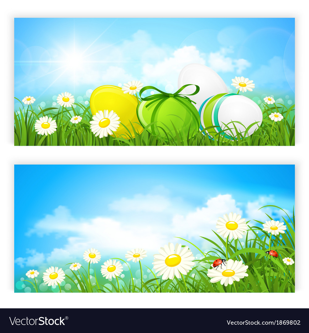 Easter banners vector | Price: 3 Credit (USD $3)