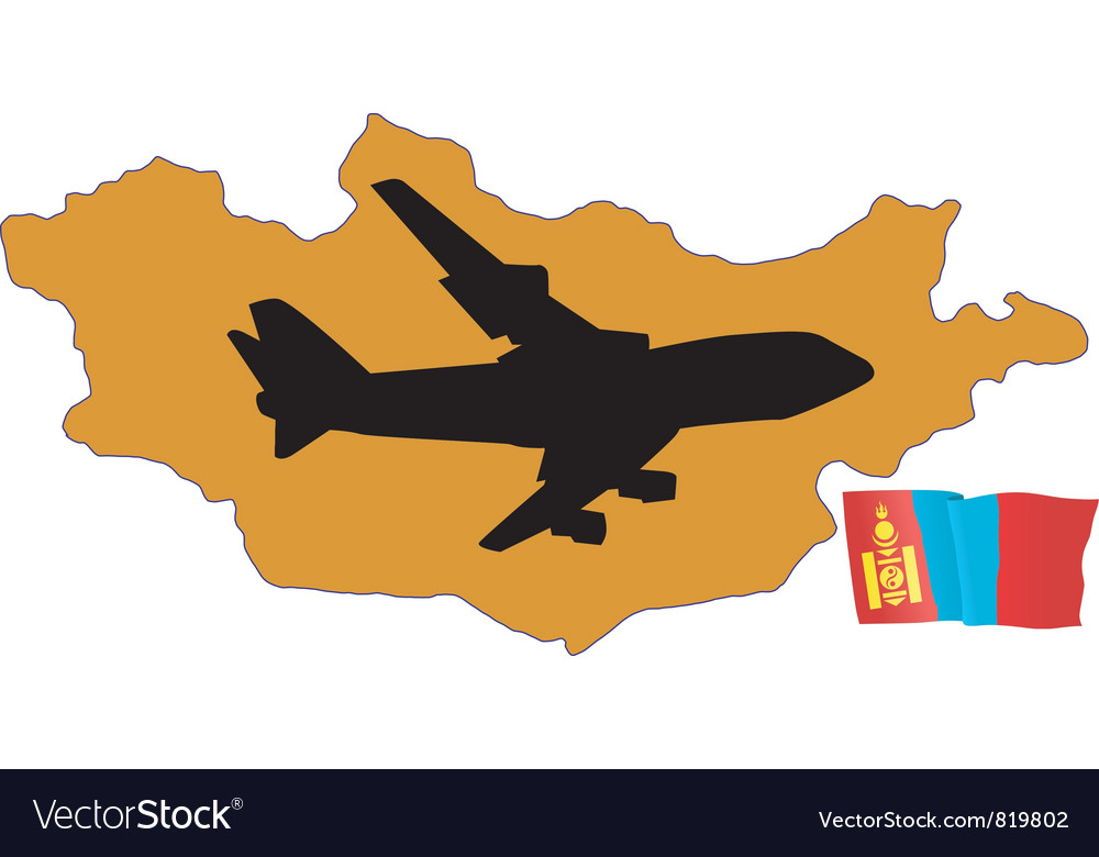 Fly me to the mongolia vector   Price: 1 Credit (USD $1)