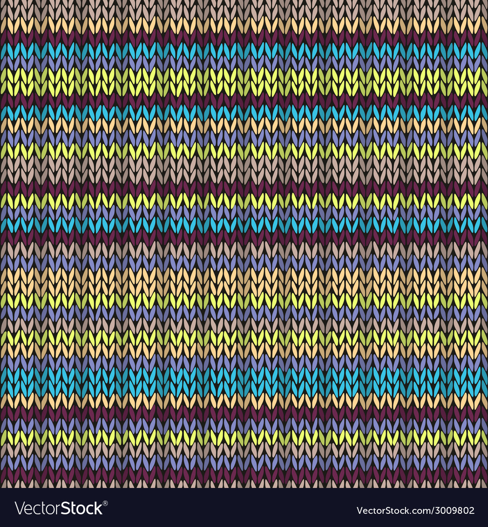 Knit seamless multicolor striped pattern vector | Price: 1 Credit (USD $1)