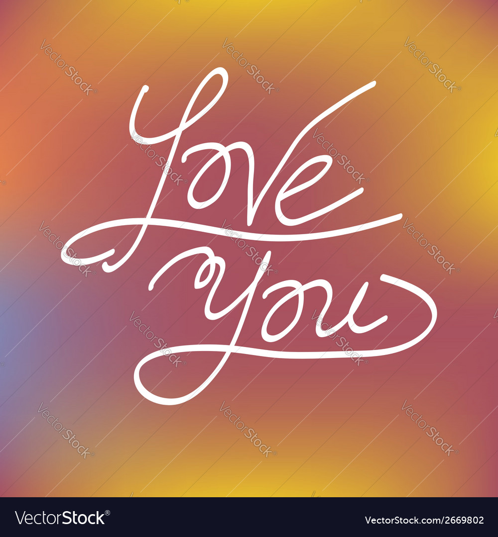 Love you greeting card concept vector | Price: 1 Credit (USD $1)