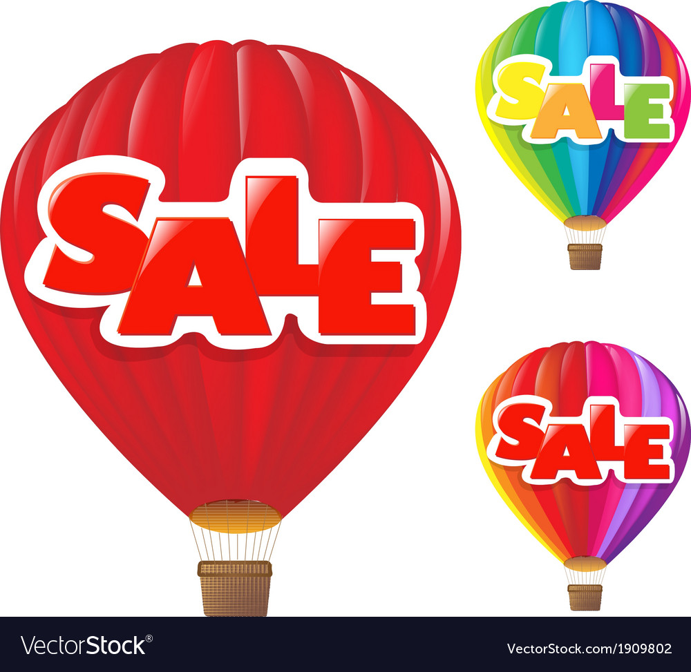 Sale air balloon vector | Price: 1 Credit (USD $1)