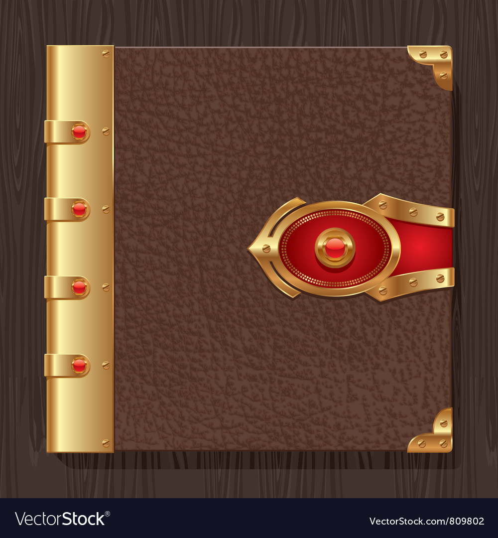 Vintage leather book hardcover vector | Price: 3 Credit (USD $3)
