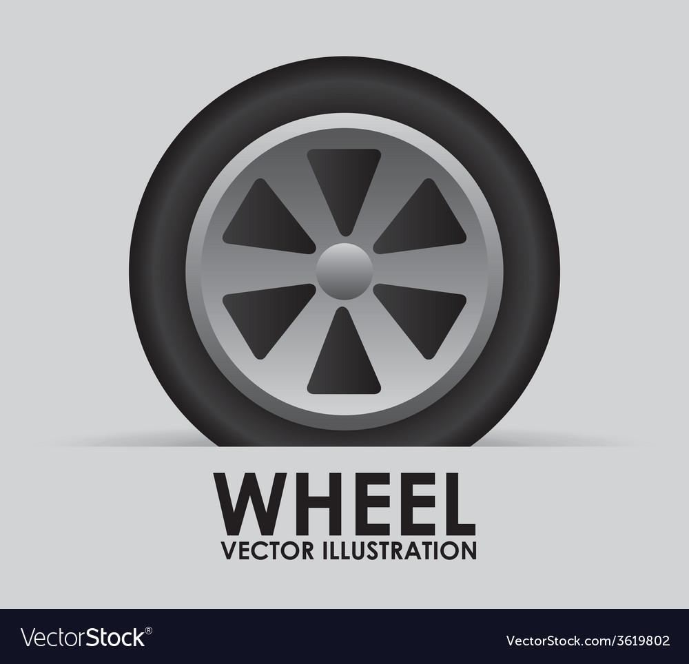 Wheel tire vector | Price: 1 Credit (USD $1)