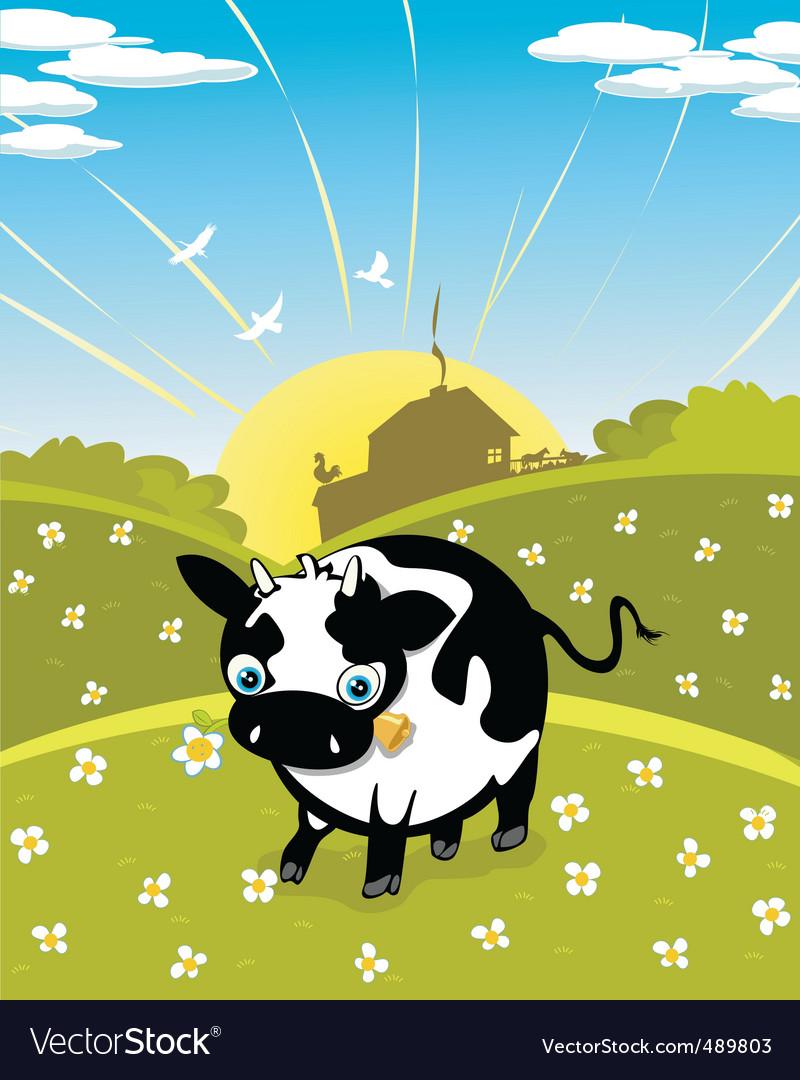 Cartoon cow vector | Price: 3 Credit (USD $3)