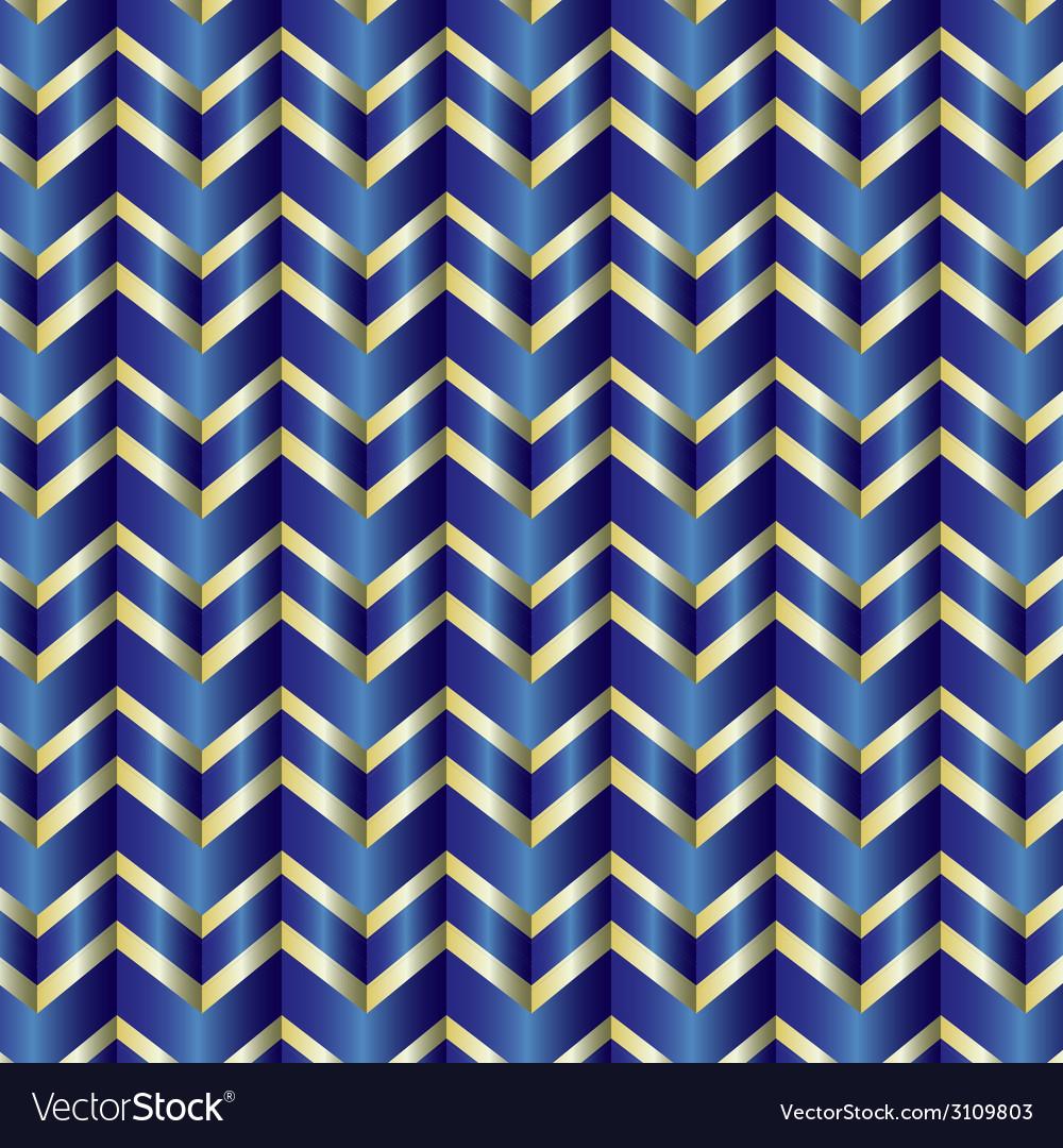 Chevron blue ribbon vector | Price: 1 Credit (USD $1)