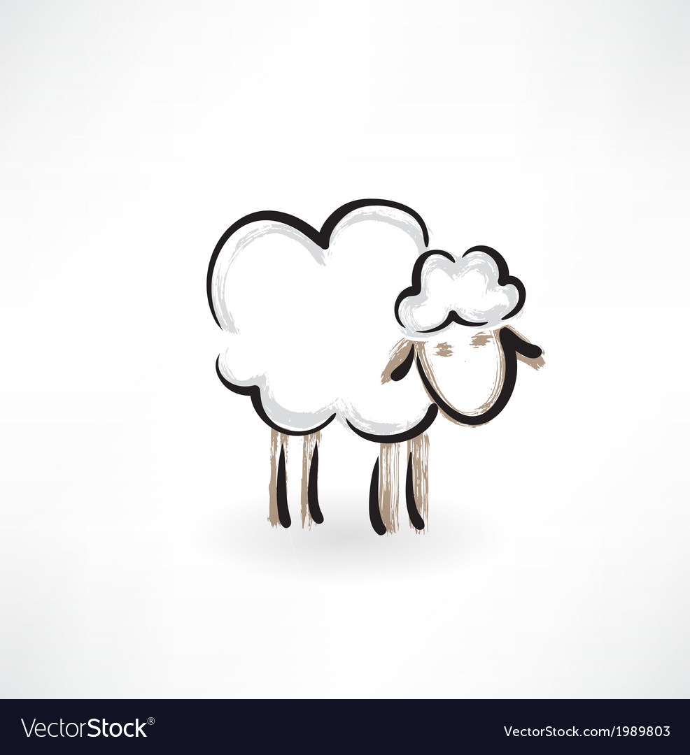 Lamb grunge icon vector | Price: 1 Credit (USD $1)