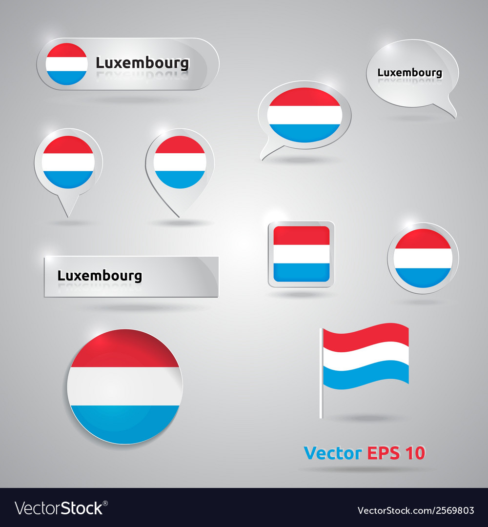 Luxembourg icon set of flags vector | Price: 1 Credit (USD $1)