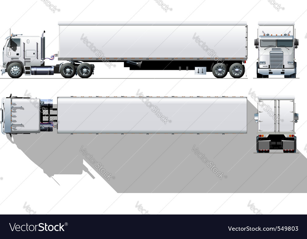 Semi truck vector | Price: 3 Credit (USD $3)
