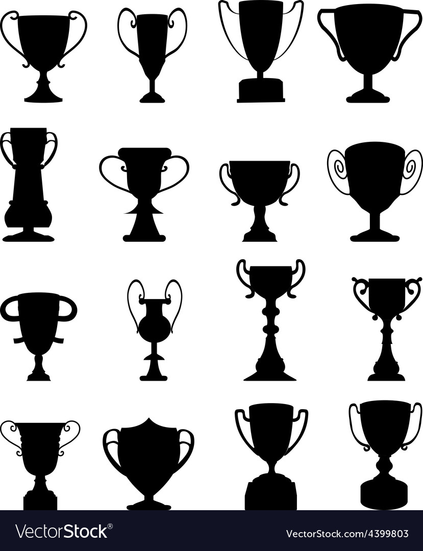 Trophies icons set vector | Price: 3 Credit (USD $3)