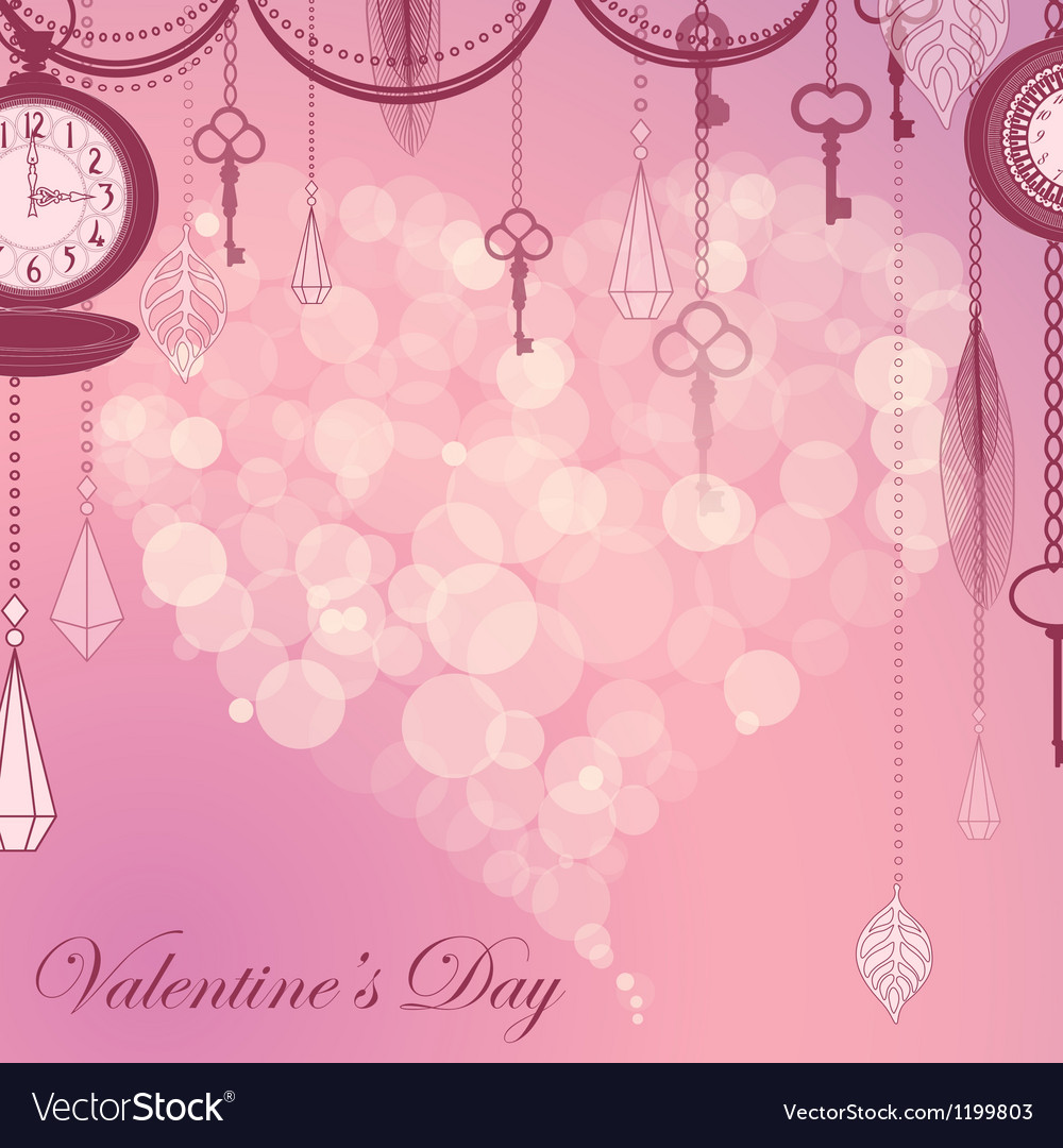 Valentines card with flare heart ans antique vector   Price: 1 Credit (USD $1)