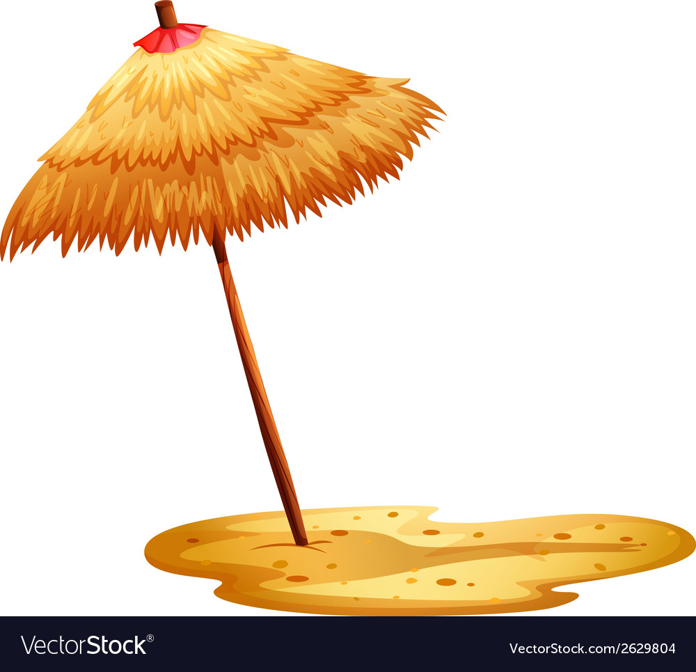 A beach umbrella vector