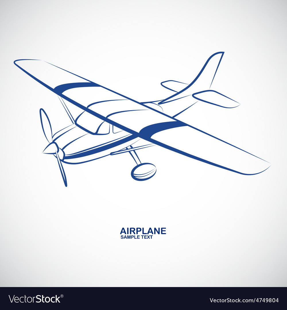 Airplane 6 vector | Price: 1 Credit (USD $1)