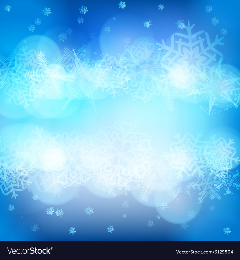Christmas background with snowflakes and lights vector | Price: 1 Credit (USD $1)