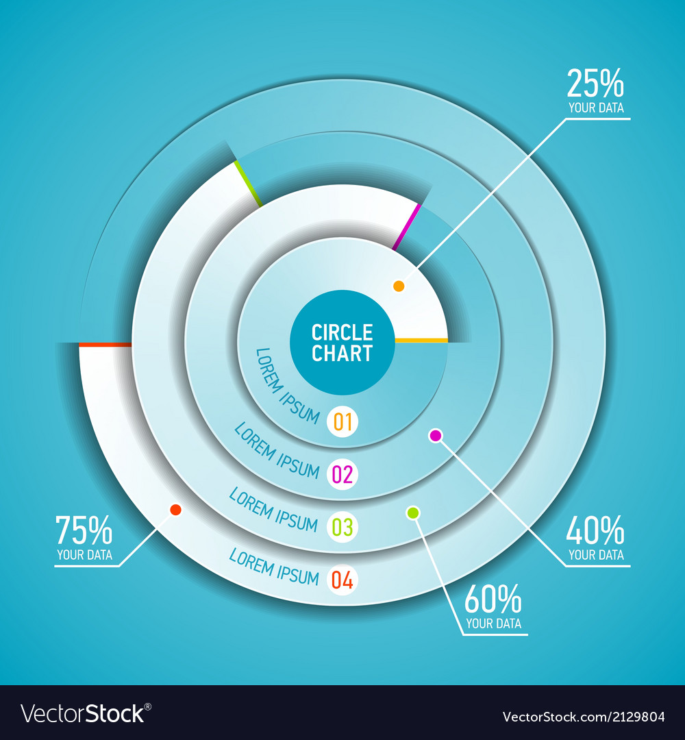 Circle chart infographic template vector | Price: 1 Credit (USD $1)