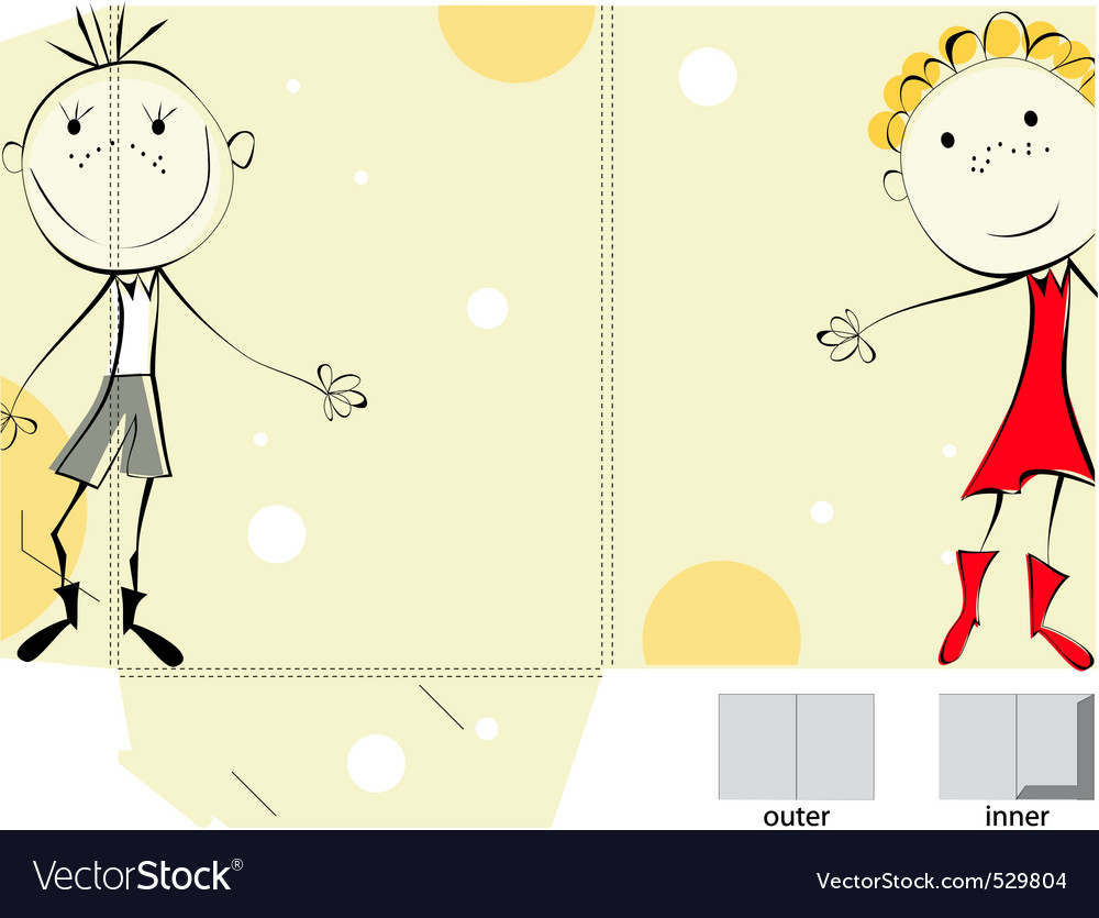 Decorative folder with a happy couple illustration vector | Price: 1 Credit (USD $1)