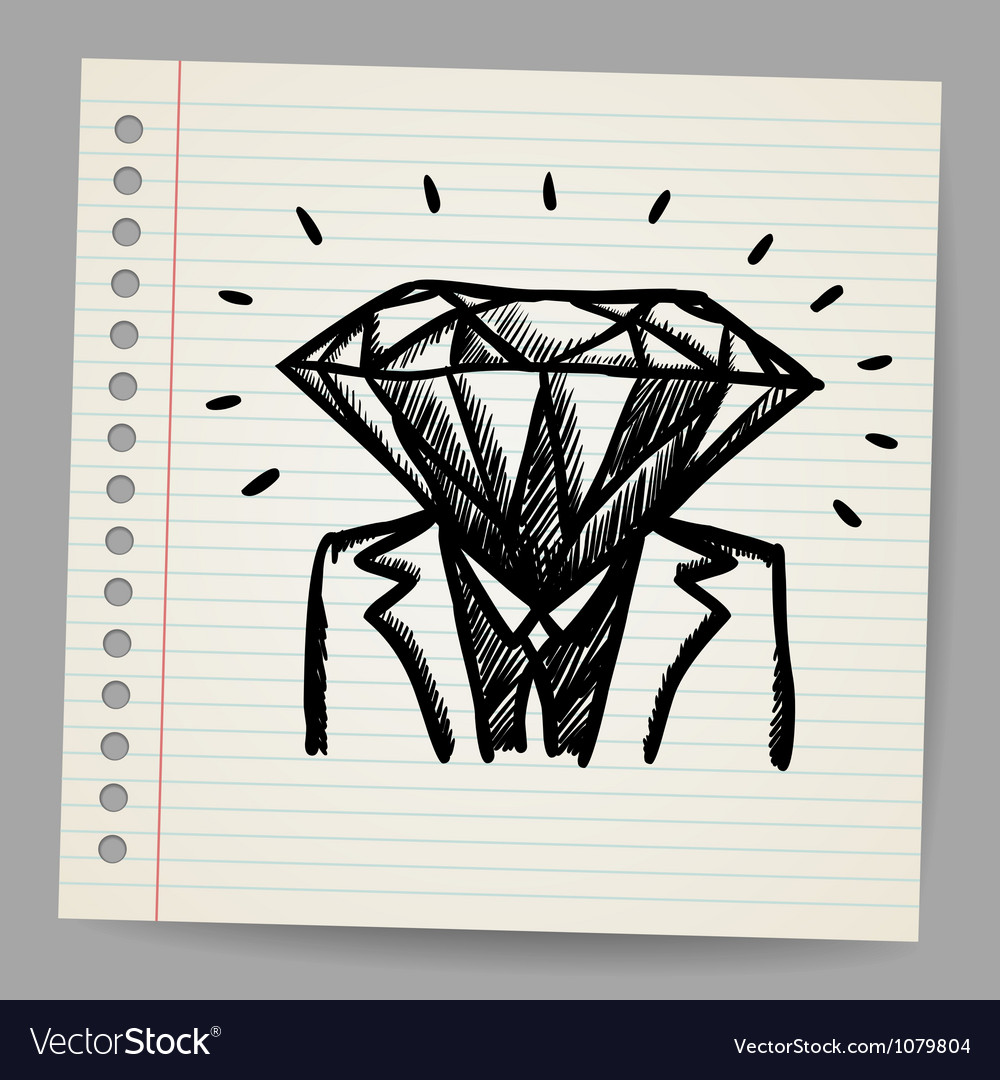 Doodle businessman-diamond sketch concept vector | Price: 1 Credit (USD $1)
