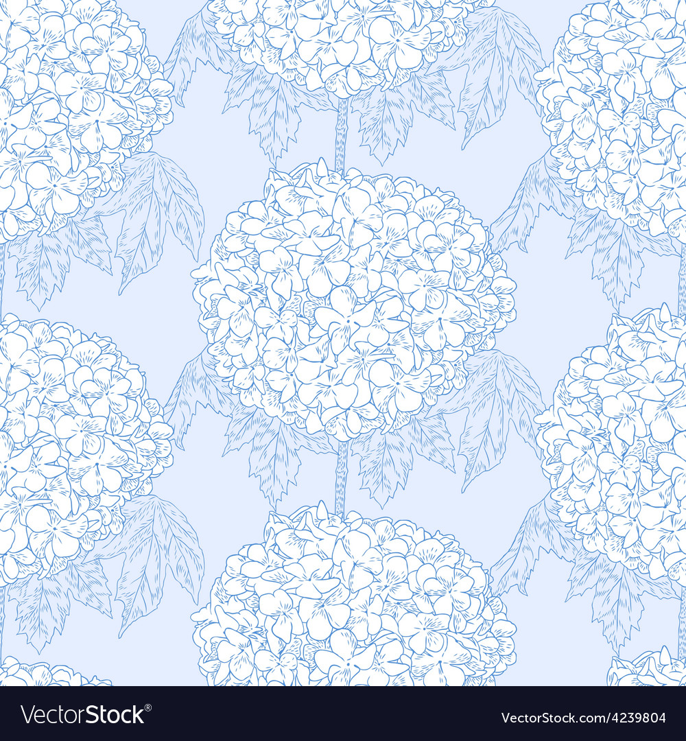 Hydrangeas seamless pattern vector   Price: 1 Credit (USD $1)