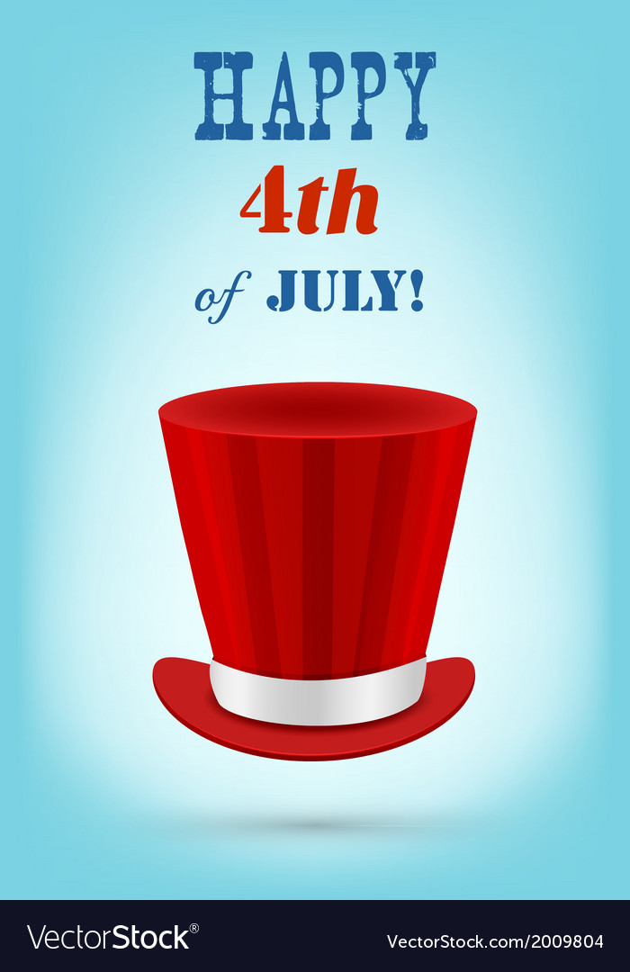Independence day greeting card 4th of july vector | Price: 1 Credit (USD $1)