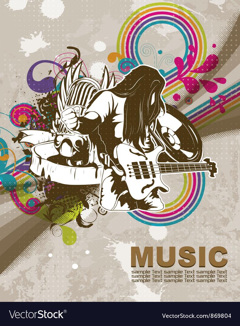 Retro concert poster vector   Price: 1 Credit (USD $1)