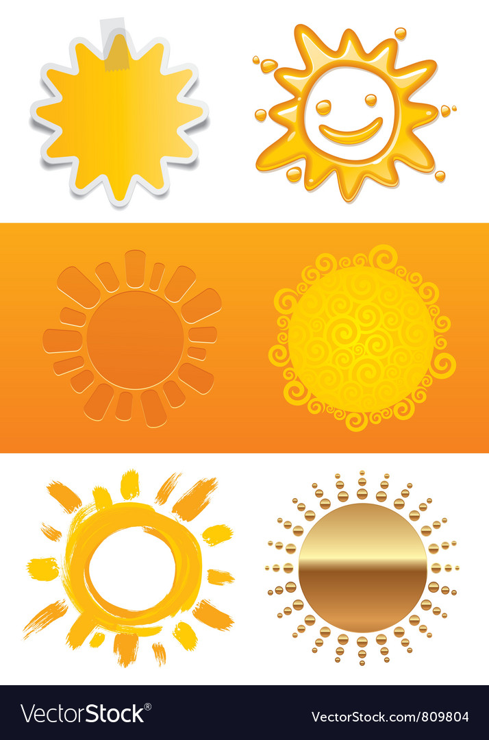 Set of a sun vector | Price: 1 Credit (USD $1)