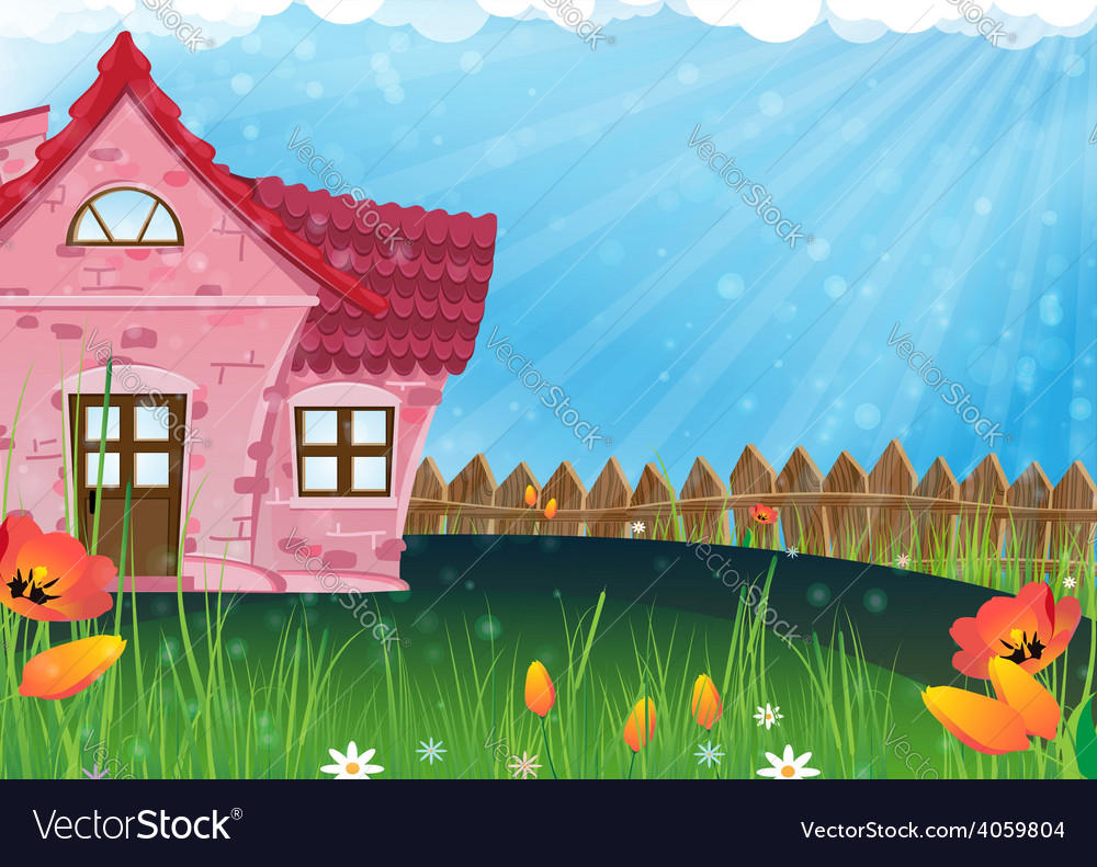 Small rural house vector | Price: 3 Credit (USD $3)