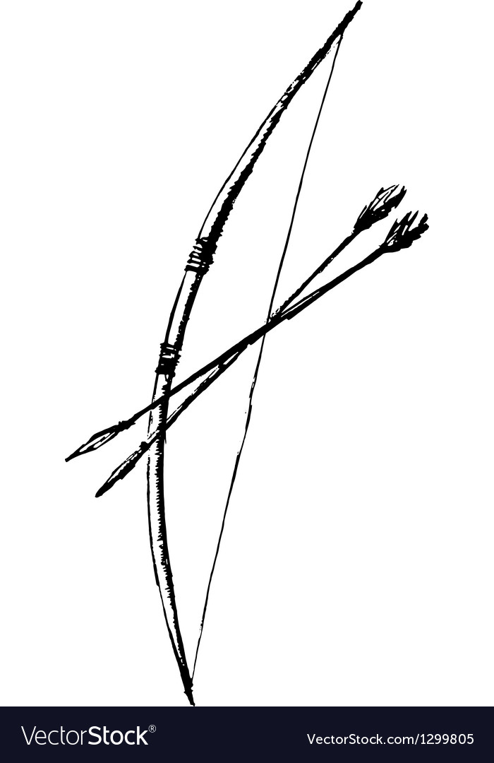 Bow and arrow vector   Price: 1 Credit (USD $1)