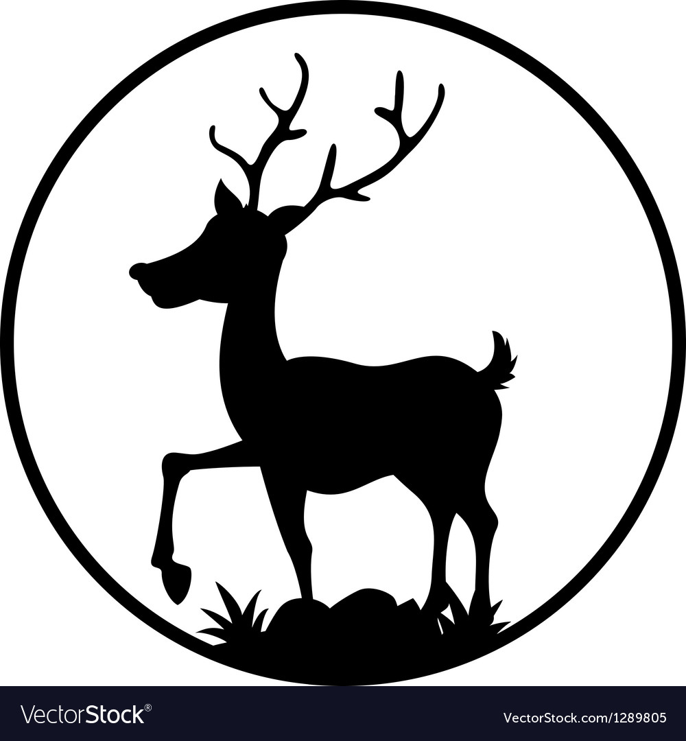 Cute deer silhouette vector | Price: 1 Credit (USD $1)