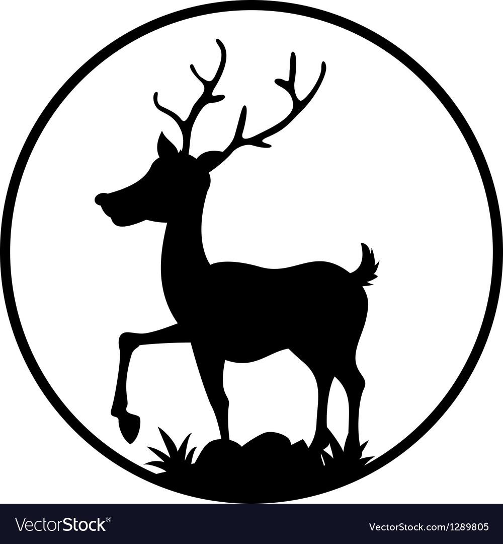 Cute deer silhouette vector | Price: 1 Credit (USD $1)
