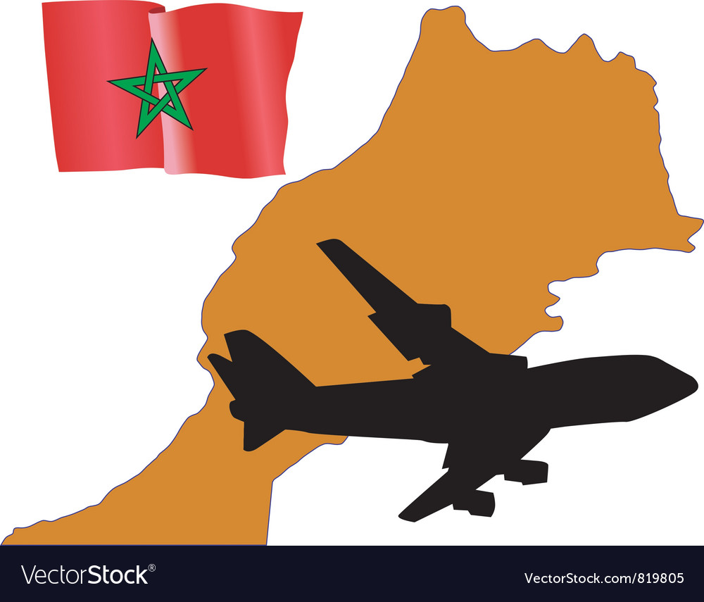 Fly me to the morocco vector | Price: 1 Credit (USD $1)