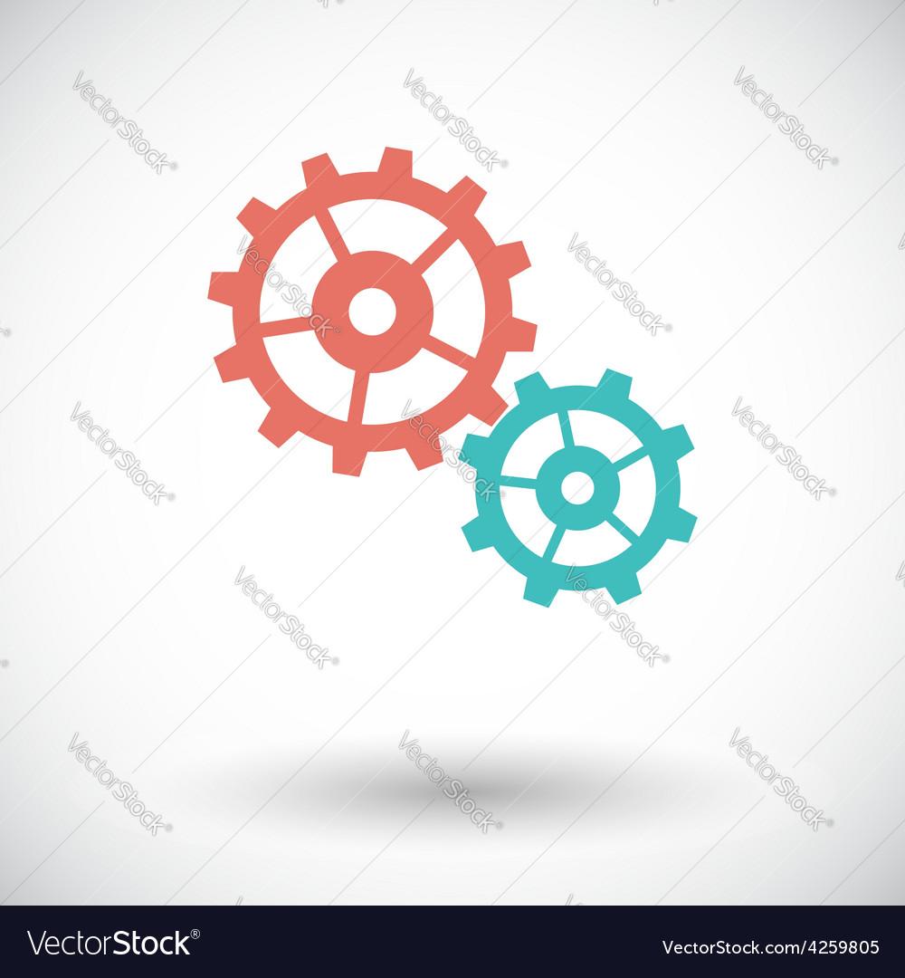 Gear flat icon vector   Price: 1 Credit (USD $1)