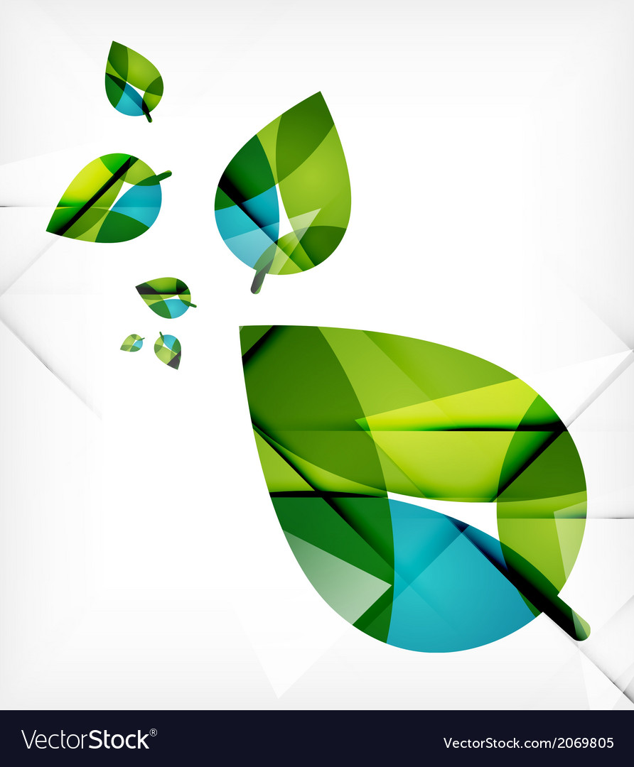 Green leaves spring nature design concept vector | Price: 1 Credit (USD $1)