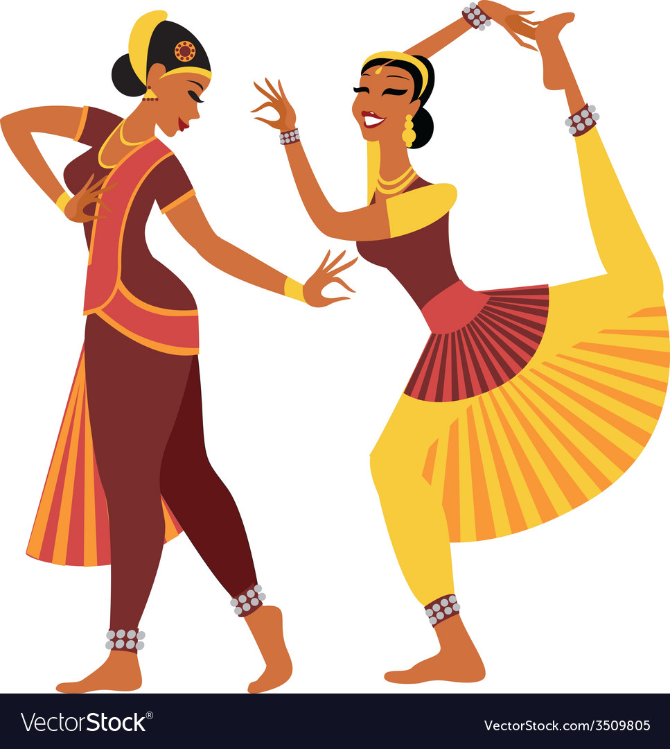 Indian dancers vector | Price: 1 Credit (USD $1)