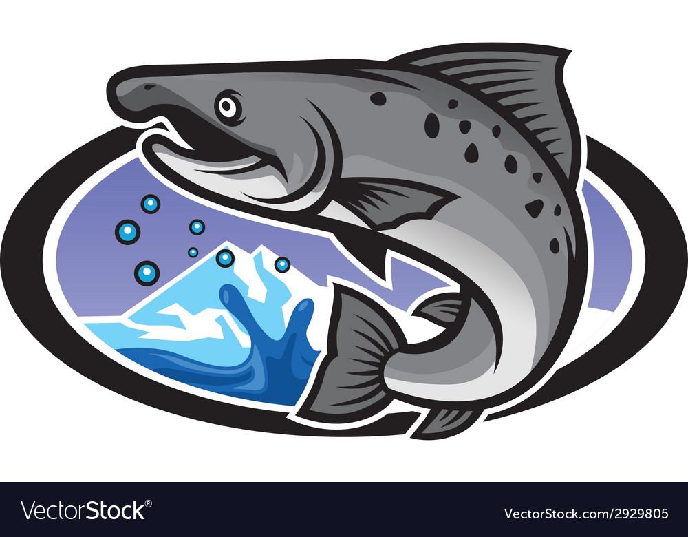Salmon mascot vector   Price: 3 Credit (USD $3)