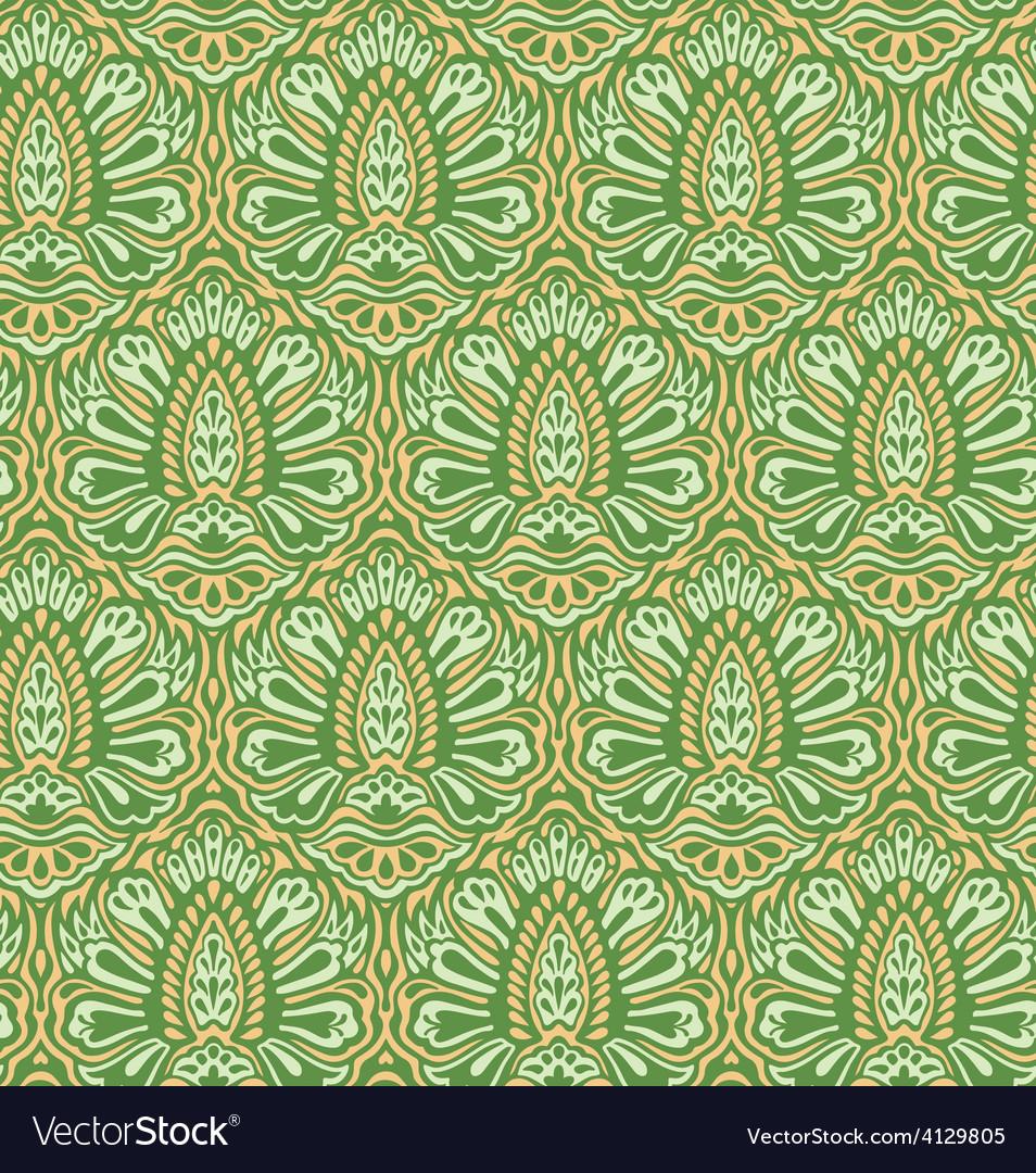 Seamless elegant floral pattern vector | Price: 1 Credit (USD $1)