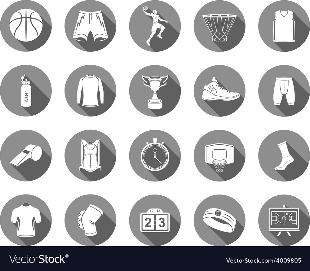 Set of icons basketball vector | Price: 1 Credit (USD $1)