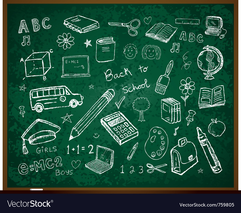Set of school doodle s vector | Price: 3 Credit (USD $3)
