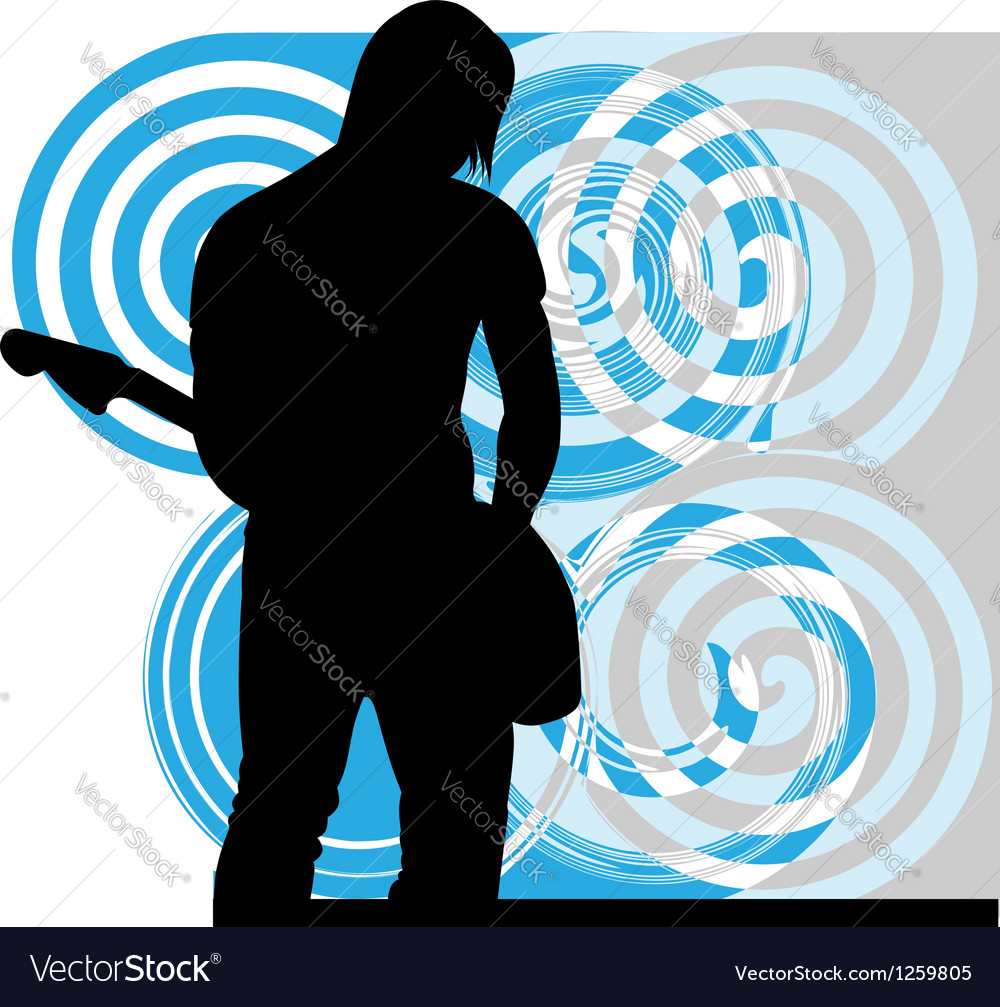 Singer playing guitar vector | Price: 1 Credit (USD $1)
